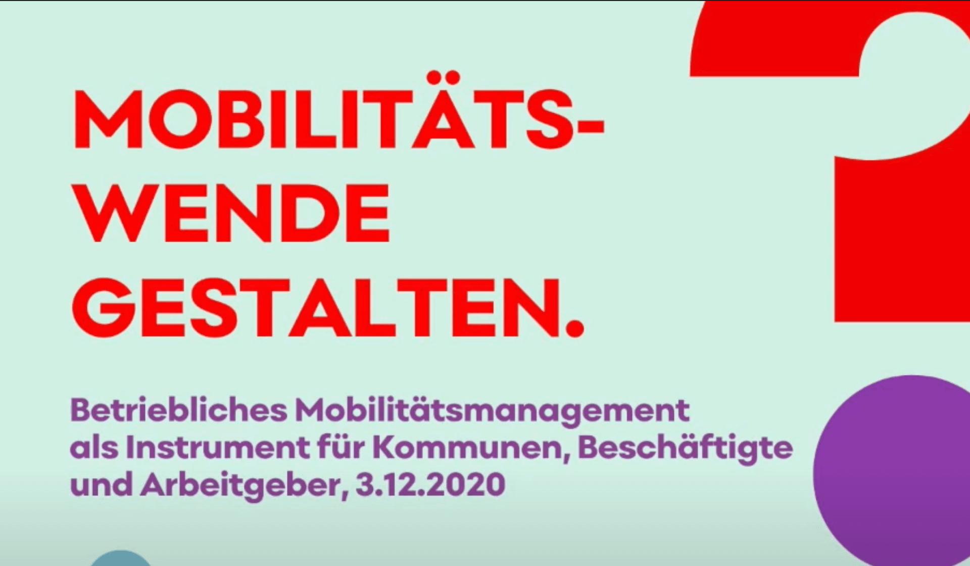 Mobilitätswende gestalten: Betriebliches Mobilitätsmanagement als Instrument für Kommunen, Beschäftigte und Arbeitgeber