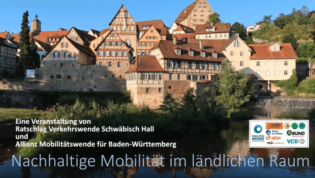 """Schwäbisch Hall: Nachhaltige Mobilität im ländlichen Raum"""""""