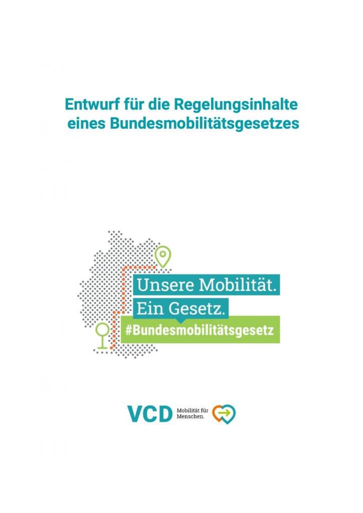 VCD schlägt ein Bundesmobilitätsgesetz vor