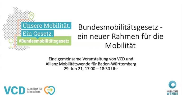 Mobilität braucht einen neuen Rahmen: VCD stellt ein Bundesmobilitätsgesetz vor