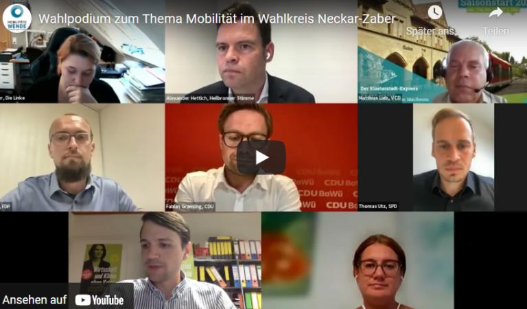 Wahlpodium zur Mobilität in Neckar-Zaber